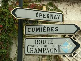 Travel signs for the Champagne Route