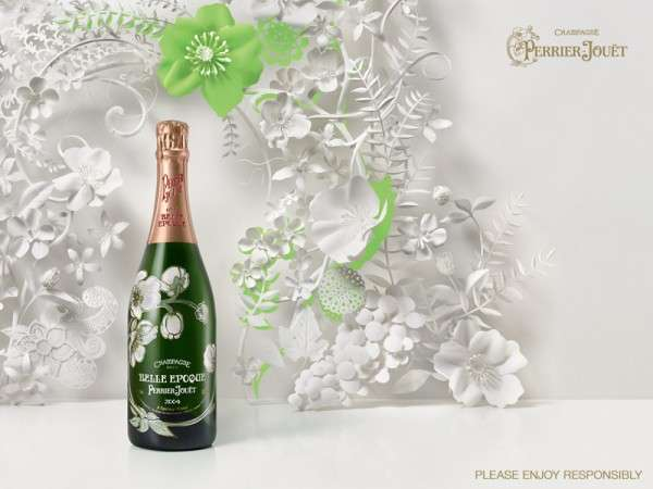 Perrier-Jouet Champagne Paper Print Ad is Creatively Catered