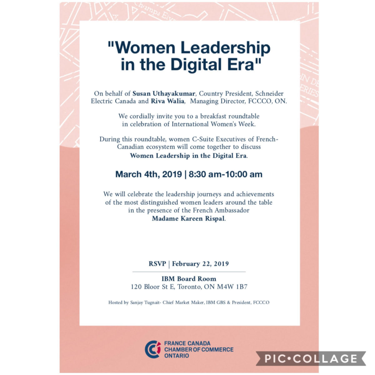 Toronto Event:  Women Leadership in the Digital Era