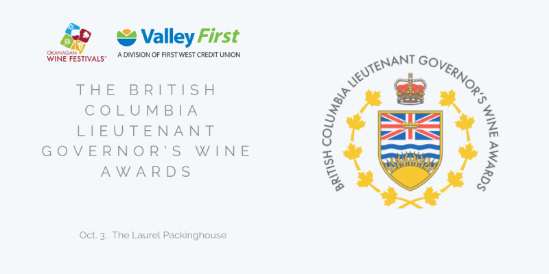 British Columbia Lieutenant Governor's Wine Awards: October 3 2019