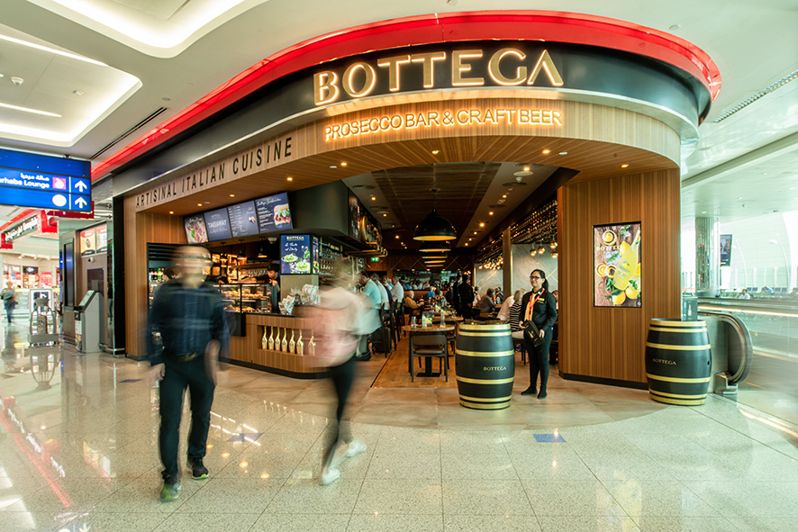 Bottega opens Prosecco Bar at DXB (Dubai International)