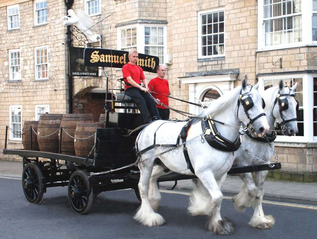 UK Brewery Samuel Smith Delivers Beer by Shire Horse During Lockdown to Boost Morale