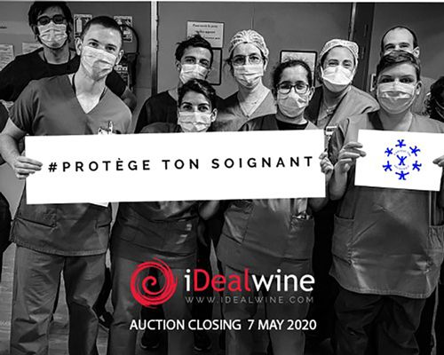 Idealwine launches Fine Wine Auction for Healthcare Workers #ProtegeTonSoignant