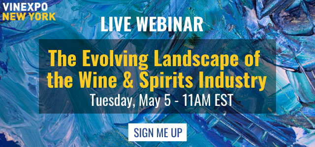 "Vinexpo New York is hosting a free webinar ""The Evolving Landscape of the (US) Wine & Spirits Industry"""