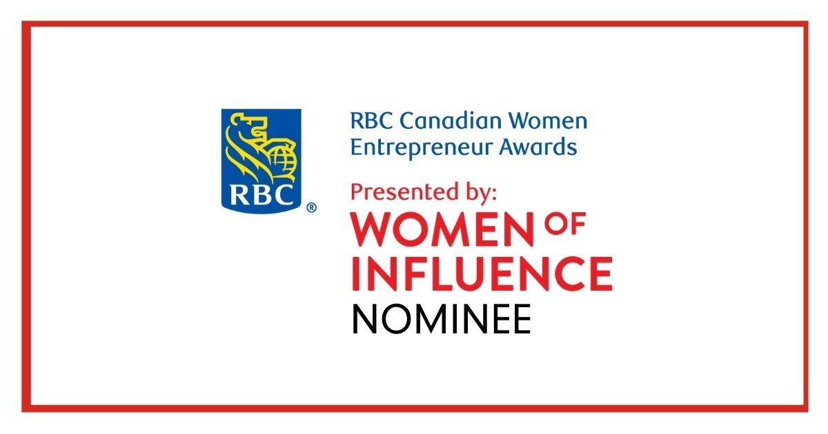 I'm so honoured to be nominated for the 2021 RBC Canadian Women Entrepreneur Awards!