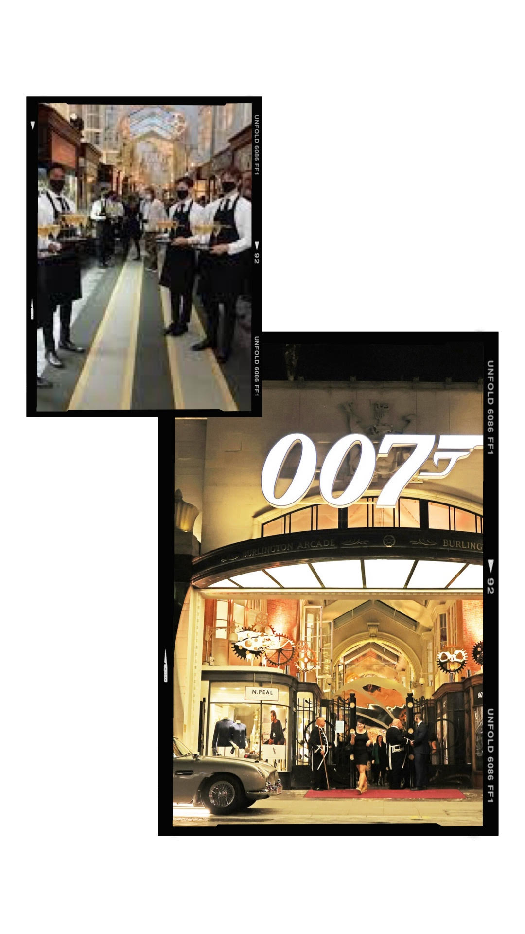 """Bollinger 007 Bar"" Launches in London's Historic Burlington Arcade"